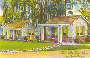 Vintage Postcard of Lake Ella Cottages