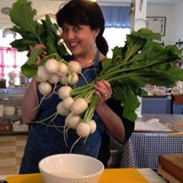 jessica with turnips